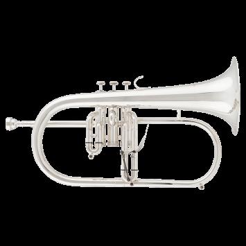RRB B-Flügelhorn 526-2, versilbert