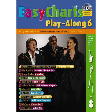 Easy Charts Play-Along Band 6 +CD - MF 3606