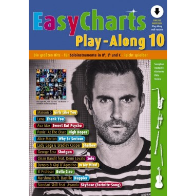 Easy Charts Play-Along Band 10 +Audio Online - MF3610