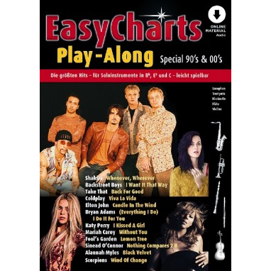 Easy Charts Play Along Band Special 90's & 00's