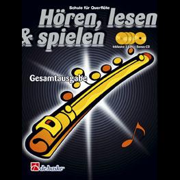 Hören, lesen & spielen Band Gesamtausgabe (+ 4 CD's): Querflöte