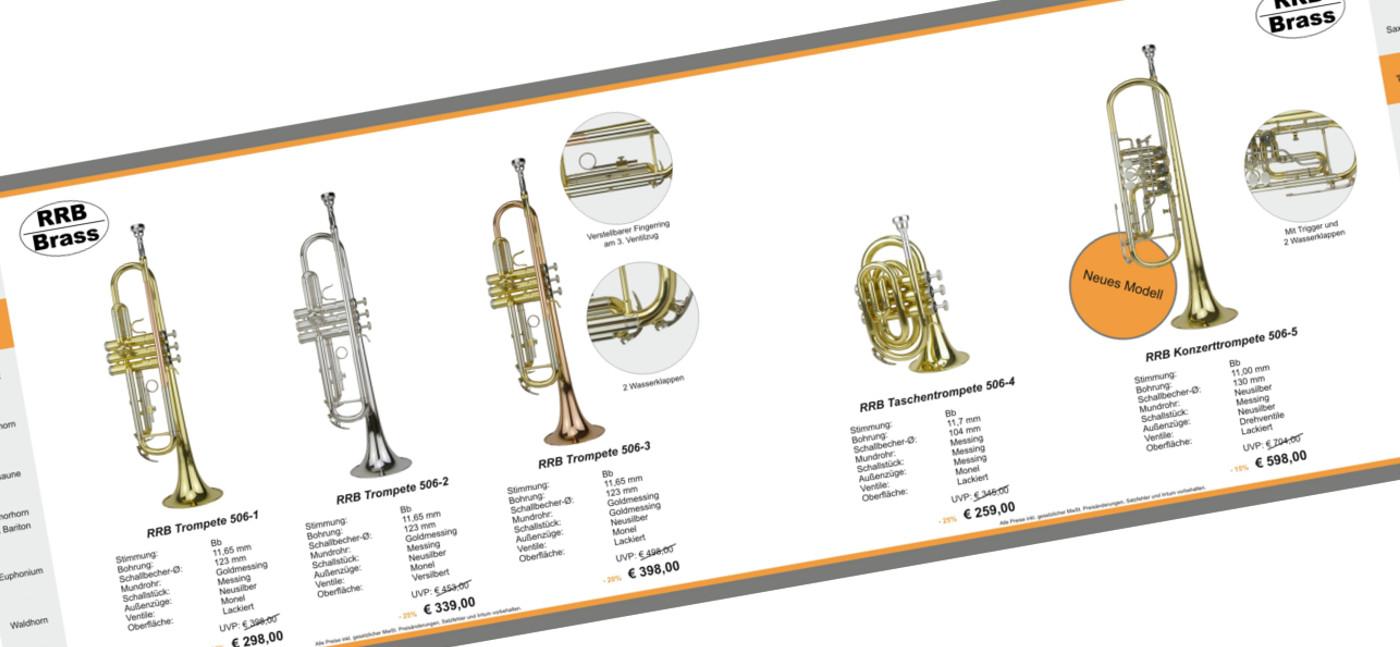 Unser neuer RRB-Katalog <br> <br> Unsere Marke für Schüler und Freizeitmusiker!